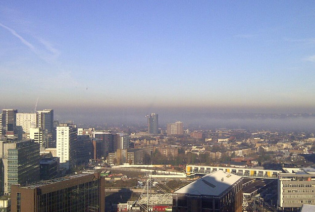 Photo showing air pollution on 11 December 2013. View from Croydon, London. Photo by Andrew J Pelling